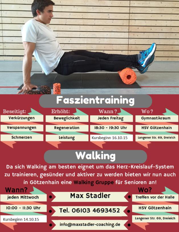 Faszientraining und Walking